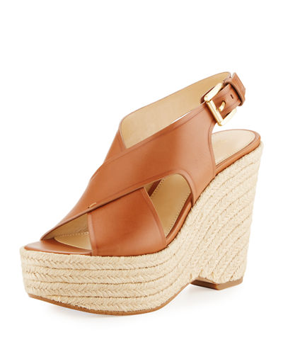 Angeline Crisscross Wedge Sandal