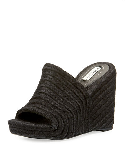 Braided Jute Wedge Sandal