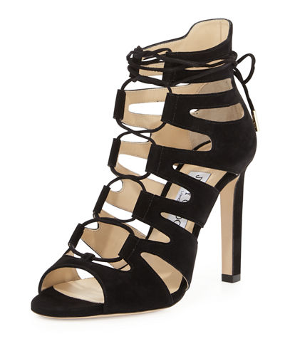 Hitch Caged Suede 100mm Sandal