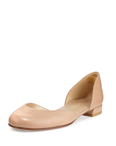 Cutie Leather d'Orsay Ballerina Flat