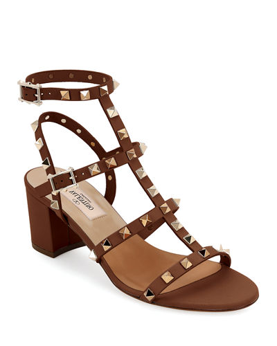 Valentino Garavani Rockstud Leather 60mm City Sandal