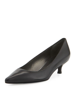 Black Kitten Heel Shoes | Neiman Marcus