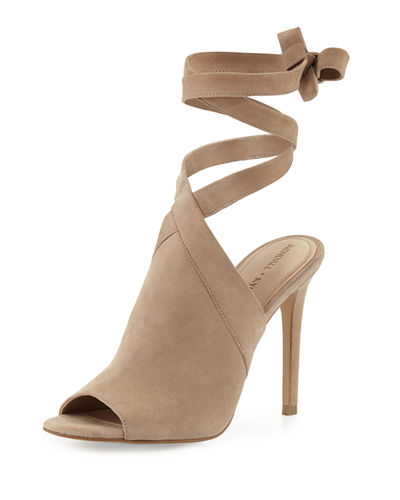 Evelyn Suede Wrap-&-Tie Sandal