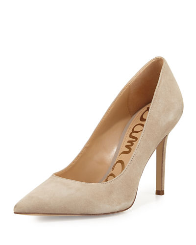Hazel Pointed-Toe Suede Pump
