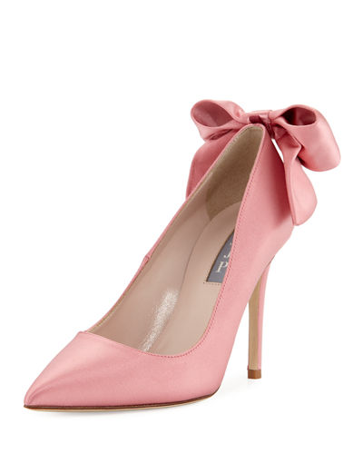 Lucille Satin Bow Pump