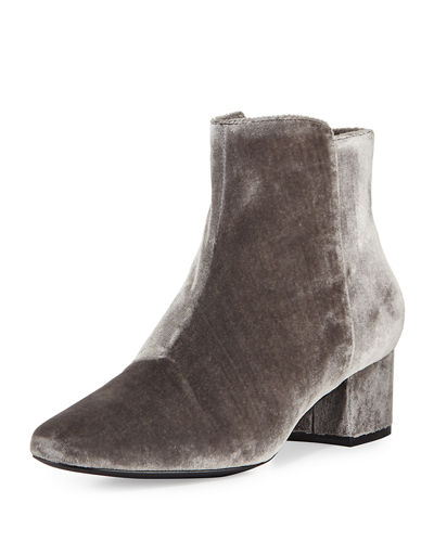 Fenellie Velvet Zip-Up Bootie