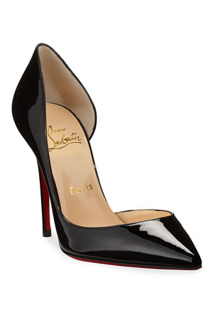Christian Louboutin Iriza Patent Open-Side Red Sole Pump