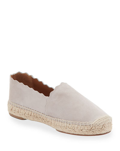 Lauren Scalloped Espadrille Flat