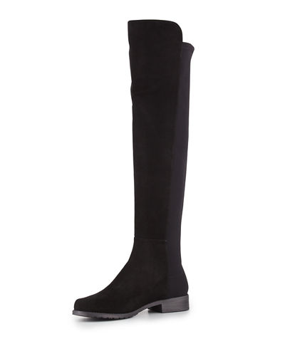 Stuart Weitzman 50/50 Suede Stretch Over-the-Knee Boot