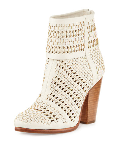 Classic Newbury Woven Leather Bootie