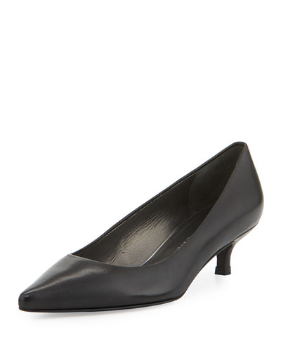Poco Leather Kitten-Heel Pump