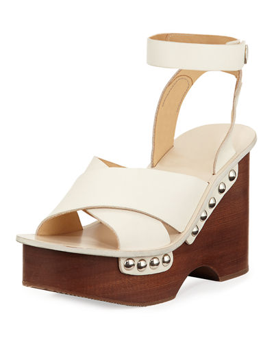 Hester Leather Wedge Sandal