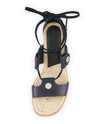 Eden Lace-Up Raffia Sandal