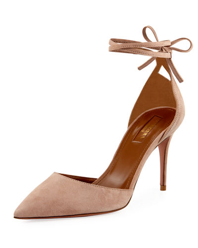 Aquazzura Heart Breaker 85mm Ankle-Wrap Pump