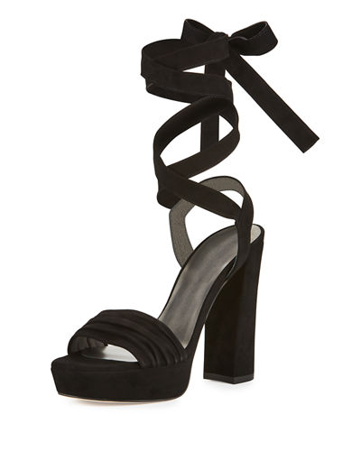 Backagain Suede Lace-Up Sandal