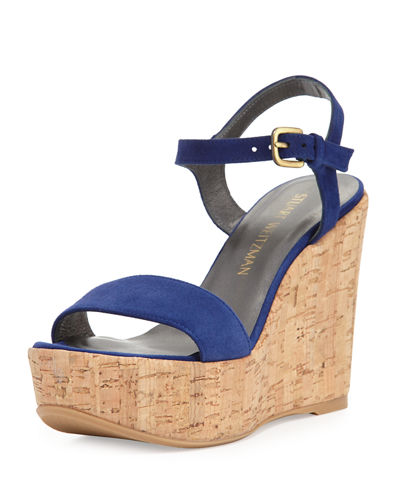 Single Suede Wedge Sandal