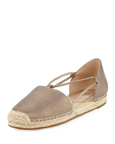 Lee Metallic Espadrille Flat