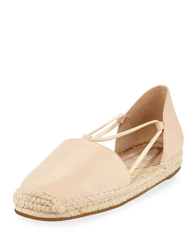 Lee Leather Espadrille Flat