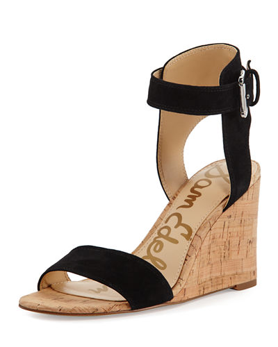 Willow Suede Cork Wedge Sandal