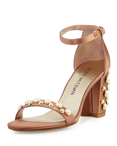 Nearlypearl Embellished Satin Sandal
