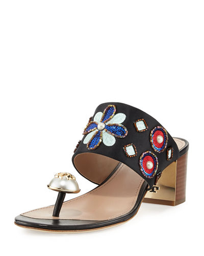 Estella Embellished Slide Sandal