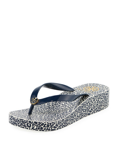 Printed Wedge Flip Flop