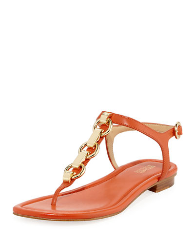 Mahari Leather Flat Thong Sandal