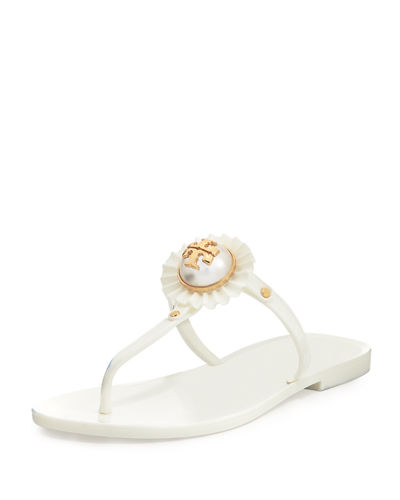 Melody Pearly Flat Thong Sandal