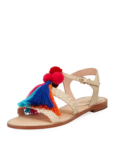 sunset tassel strappy sandal