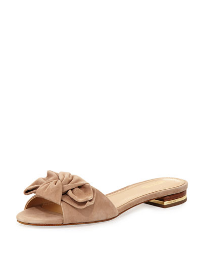 Willa Suede Flat Slide Sandal