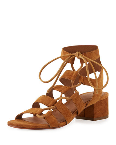 Frye Chrissy Asymmetric Lace-Up Ghillie Sandal