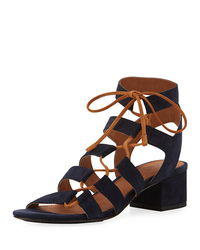 Chrissy Asymmetric Lace-Up Ghillie Sandal