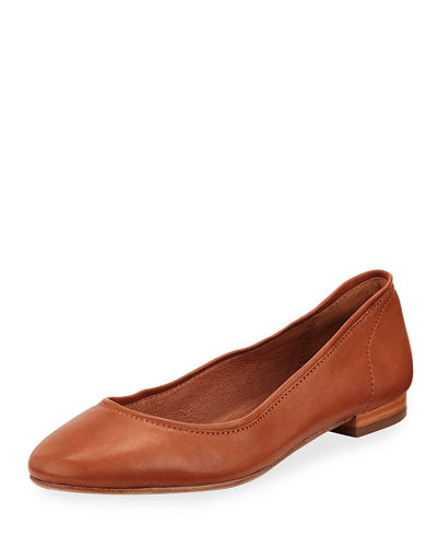 Frye Gloria Soft Leather Ballerina Flat