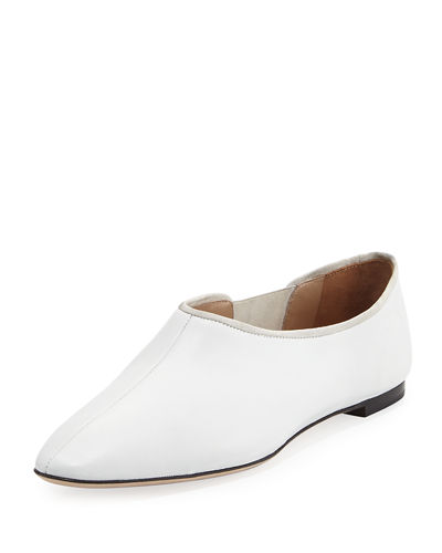 THE ROW Cara Gored Leather Slip-On
