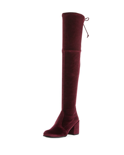 Tieland Velvet Over-the-Knee Boot