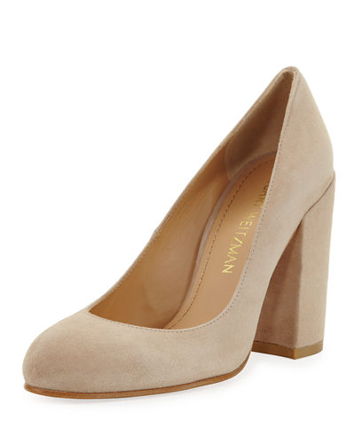 Moda Suede Block Pump