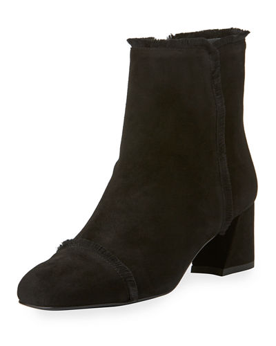 On The Fringe Suede Ankle Boot