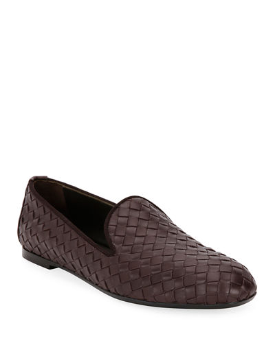 Bottega Veneta Woven Leather Smoking Slipper