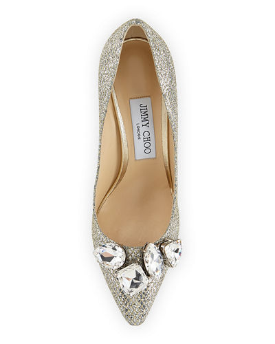 Marvel Metallic Crystal-Toe Pump