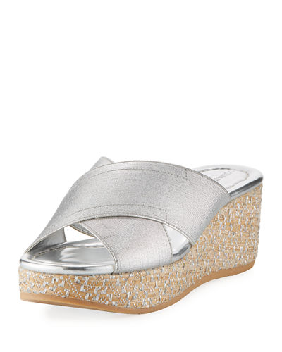 Savee Metallic Wedge Sandal