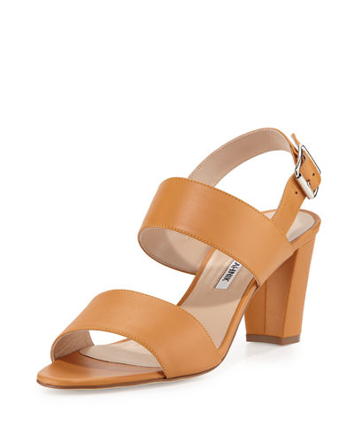 Khan Leather Double-Band Sandal