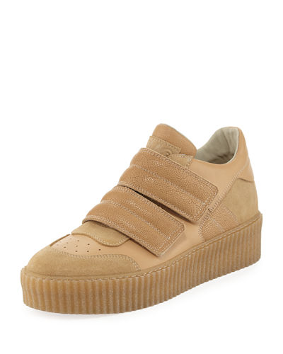 Banded Leather Low-Top Sneaker