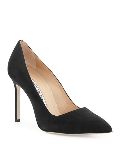 Manolo Blahnik BB 105mm Suede Point-Toe Pump
