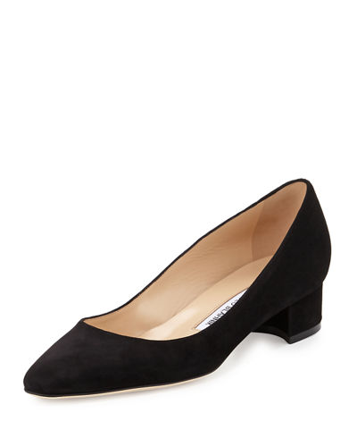 Listony Suede Low-Heel Pump