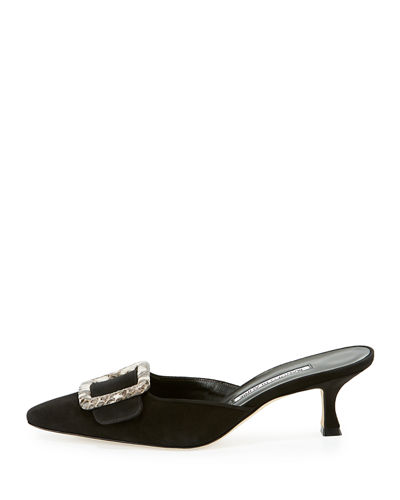 Maysale Suede Buckle 50mm Mule