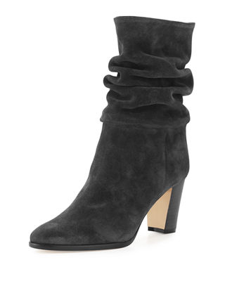 Premier Boots : Heel Ankle & Red Sole Booties at Neiman Marcus