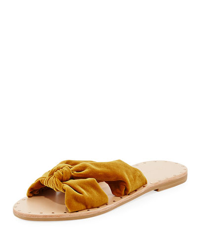 Lucia Knotted Flat Slide Sandal