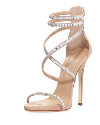 Coline Suede and Crystal Sandal