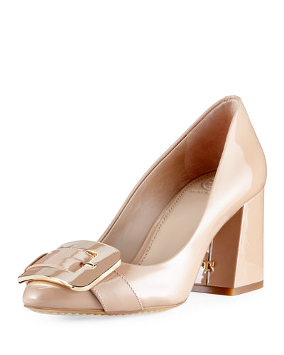 Maria Patent 75mm Buckle Pump