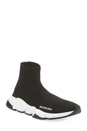 Balenciaga Speed Stretch-Knit High-Top Trainer